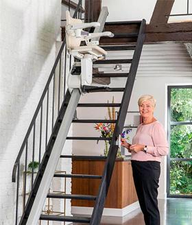 exklusive Treppenlift Fahrschiene