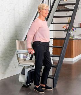 Treppenlift Ein- und Aussteigen